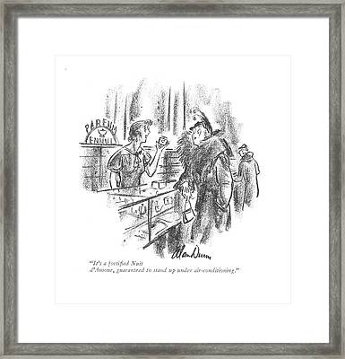 It's A Fortified Nuit D'amour Framed Print