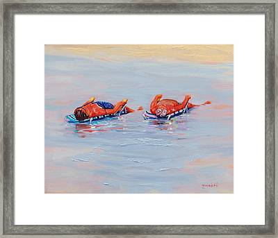 Its A Hot One Framed Print by Laura Lee Zanghetti