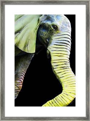 It's A Long Story - Unique Elephant Art Framed Print by Sharon Cummings