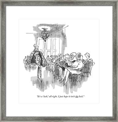 It's A 'look Framed Print