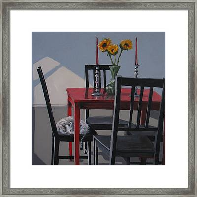 Framed Print featuring the painting Its A New Day by Karen Ilari