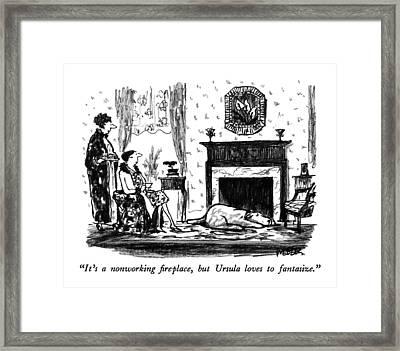 It's A Nonworking Fireplace Framed Print by Robert Weber
