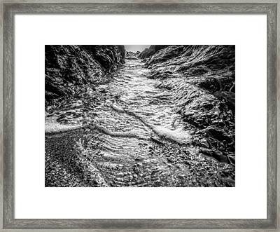 It's A Rush Browns Beach  Framed Print by Roxy Hurtubise