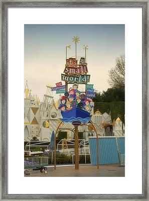 Its A Small World Fantasyland Signage Disneyland Framed Print by Thomas Woolworth