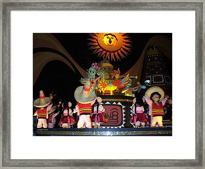 It's A Small World With Dancing Mexican Character Framed Print