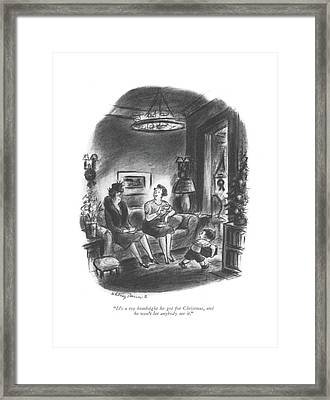It's A Toy Bombsight He Got For Christmas Framed Print by Whitney Darrow, Jr.