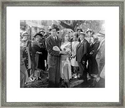 Its A Wonderful Life, Center From Left Framed Print by Everett
