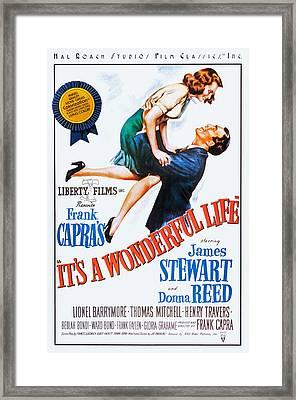 Its A Wonderful Life, L-r Donna Reed Framed Print by Everett