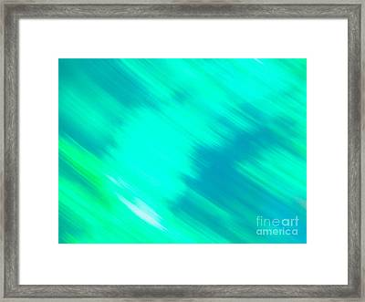 It's All A Blur  Framed Print by Sarah Mullin