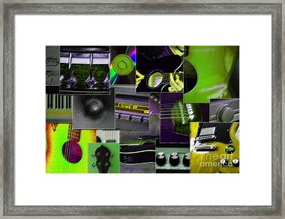 It's All About Music Framed Print by Randi Grace Nilsberg