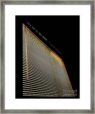 It's All In The Mind Framed Print