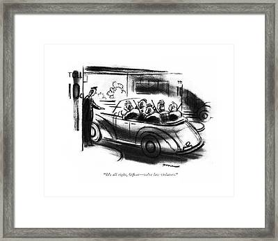 It's All Right Framed Print