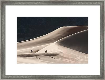 It's All Uphill Framed Print by Sandra Bronstein