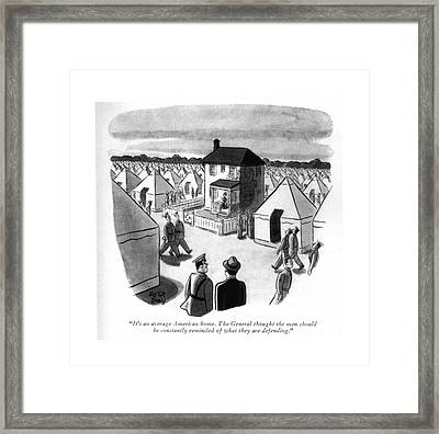 It's An Average American Home. The General Framed Print by Robert J. Day