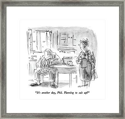 It's Another Day Framed Print by James Stevenson
