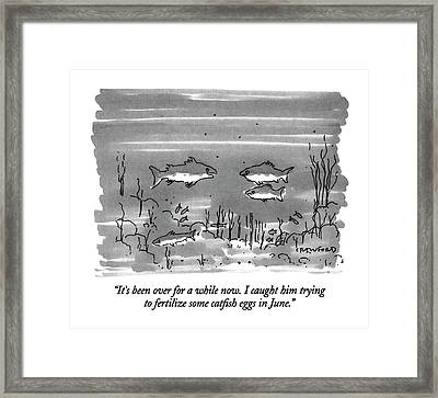 It's Been Over For A While Now.  I Caught Framed Print by Michael Crawford