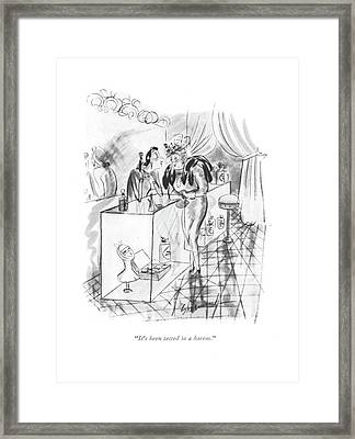 It's Been Tested In A Harem Framed Print by Barbara Shermund