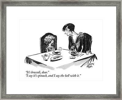 It's Broccoli Framed Print by Carl Rose