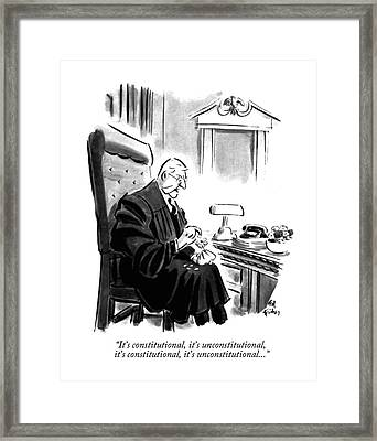 It's Constitutional Framed Print