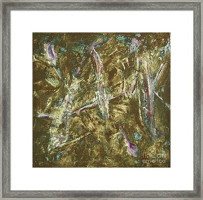 Framed Print featuring the painting It's Crazy Out There by Mini Arora