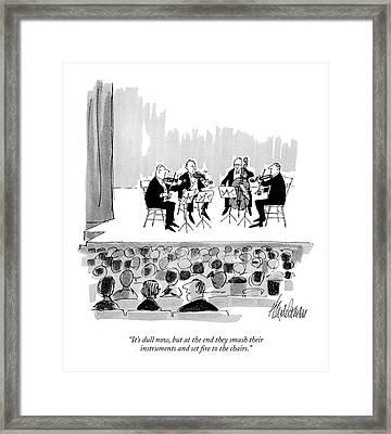 It's Dull Now Framed Print by J.B. Handelsman