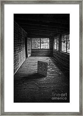 Framed Print featuring the photograph It's Empty Now by Debra Fedchin