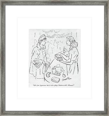 It's For Cigarettes But It Also Plays Framed Print by Garrett Price