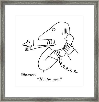 It's For You Framed Print by Charles Barsotti