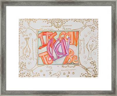 Its Going To Be Okay Framed Print by Cassie Sears