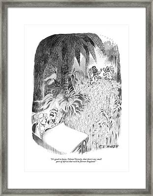 It's Good To Know Framed Print by Charles E. Martin