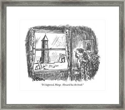 It's Happened Framed Print by Robert Weber