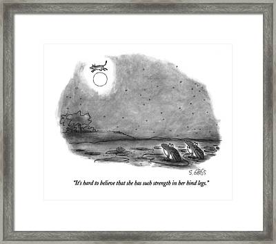 It's Hard To Believe That She Has Such Strength Framed Print