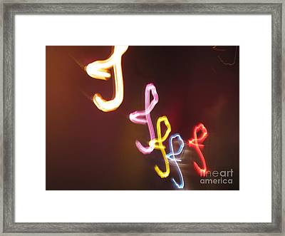 Framed Print featuring the photograph It's I... I... And More Of I. Dancing Lights Series by Ausra Huntington nee Paulauskaite