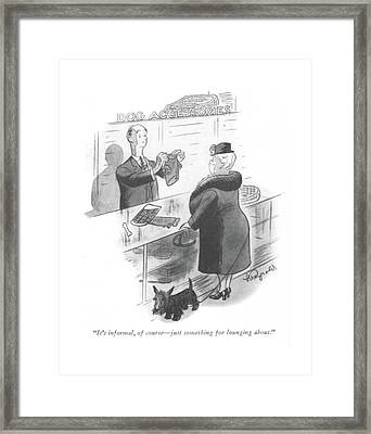 It's Informal Framed Print by Lawrence Reynolds