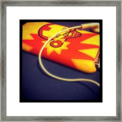 Its #ironman! #instagood #instagram Framed Print