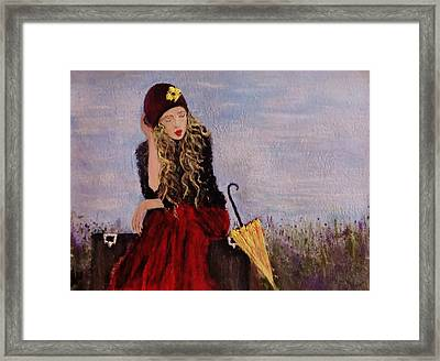 Framed Print featuring the painting It's Just A Dream... by Cristina Mihailescu