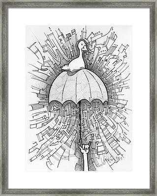 It's Just A Duck Framed Print by Michael Ciccotello