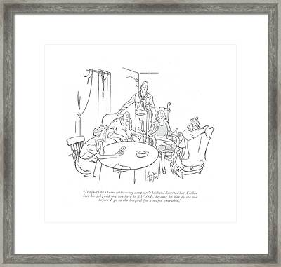 It's Just Like A Radio Serial - My Daughter's Framed Print by George Price