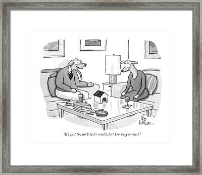 It's Just The Architect's Model Framed Print