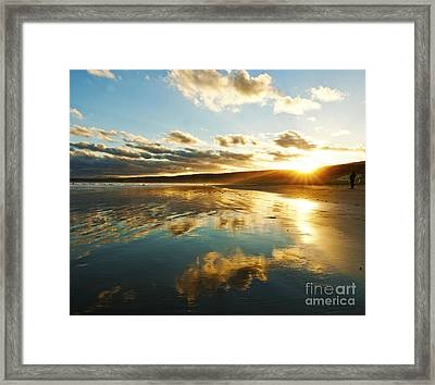 It's Late In The Day Framed Print by Nicole Doyle