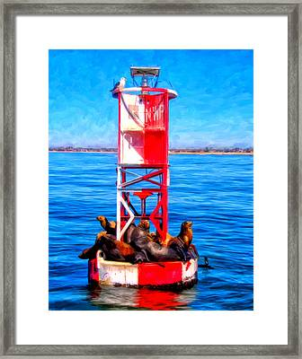 It's Lonely At The Top Framed Print by Michael Pickett