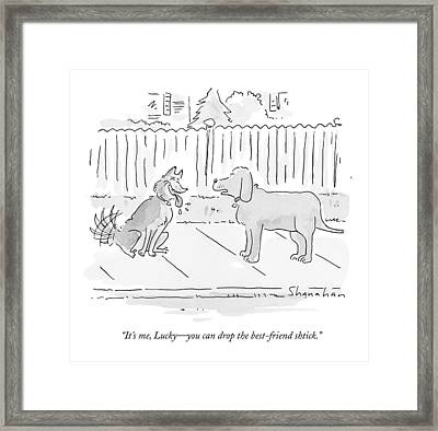 It's Me, Lucky - You Can Drop The Best-friend Framed Print