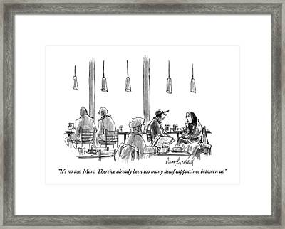 It's No Use Framed Print by Mort Gerberg