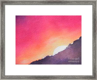 It's Not About The Climb  Rather What Awaits You On The Other Side Framed Print by Chrisann Ellis