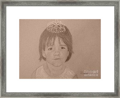 It's Not Easy Being Queen Framed Print by Mary Lynne Powers