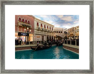 It's Not Venice - Gondoliers On The Grand Canal Framed Print