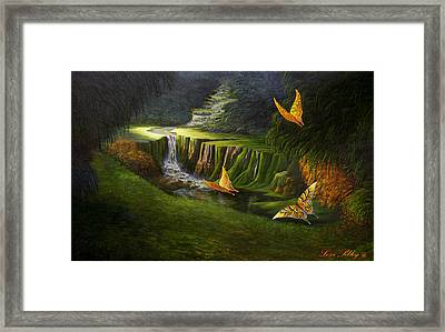 Framed Print featuring the painting Peaceful by Loxi Sibley