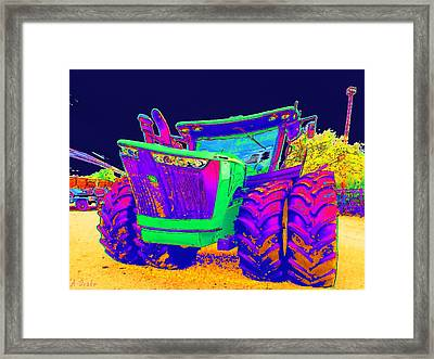 Its Not Your Fathers John Deere Framed Print by Alec Drake