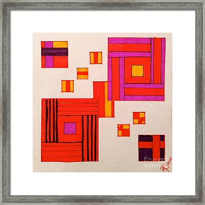 It's Okay To Be A Square Framed Print by Anita Lewis