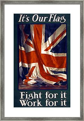 It's Our Flag Framed Print by Guy Lipscombe